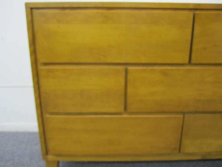 7 Drawer Solid Maple Conant Ball Dresser, Russel Wright, Mid-Century Modern 4