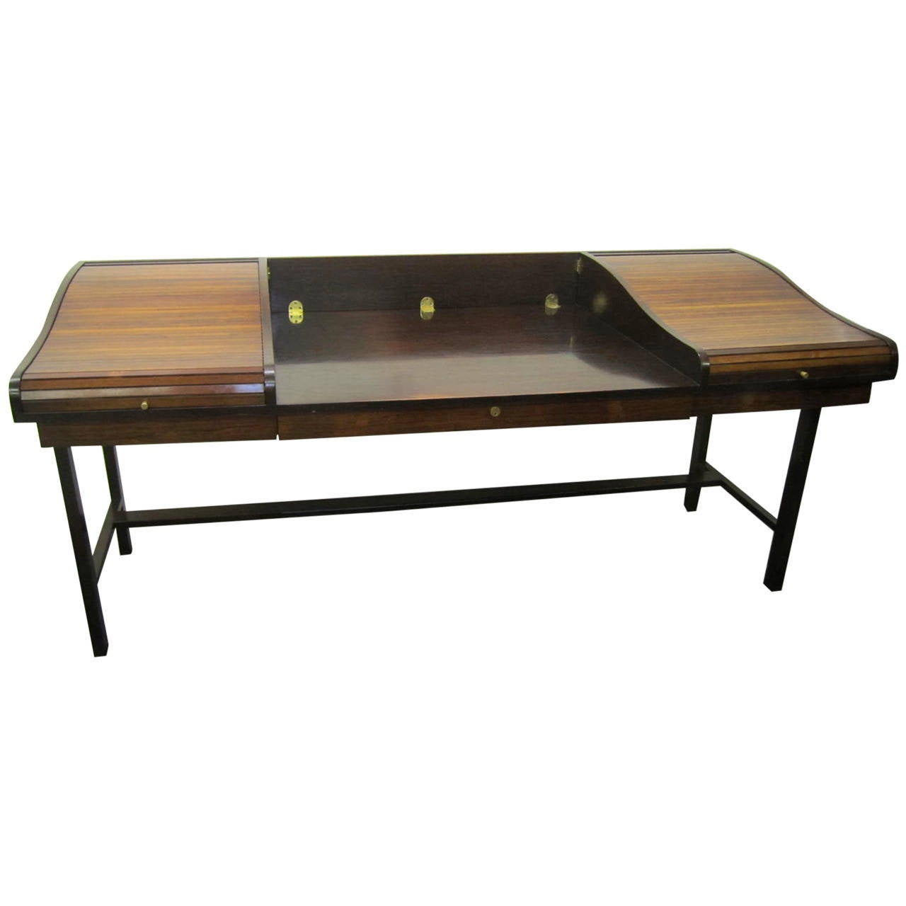 Excellent Rosewood Roll Top Desk by Edward Wormley for Dunbar Mid-Century Modern For Sale