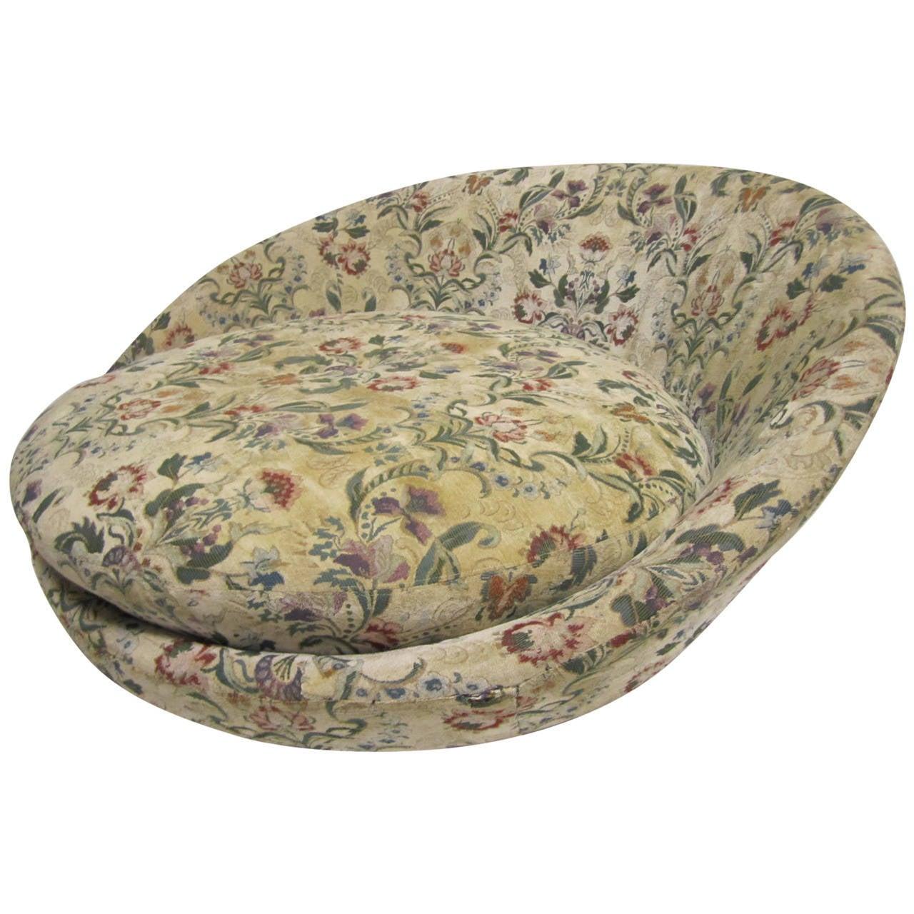 Wonderful Circular Milo Baughman Lounge Chair Mid Century Modern at 1stdibs