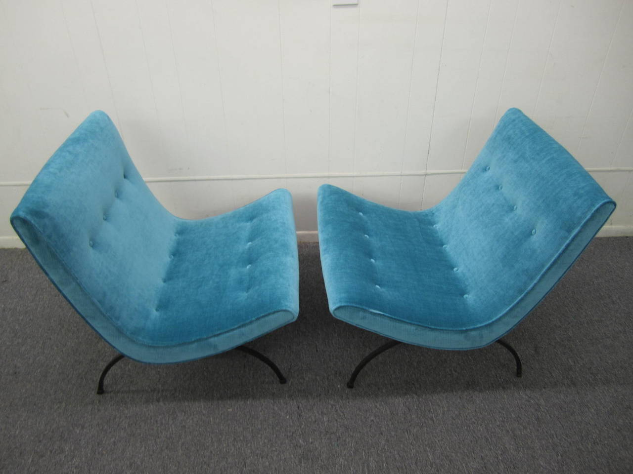 Mid Century Modern For Fabulous Pair Of Signed Milo Baughman Thayer Coggin Scoop Chairs These Have Been Newly