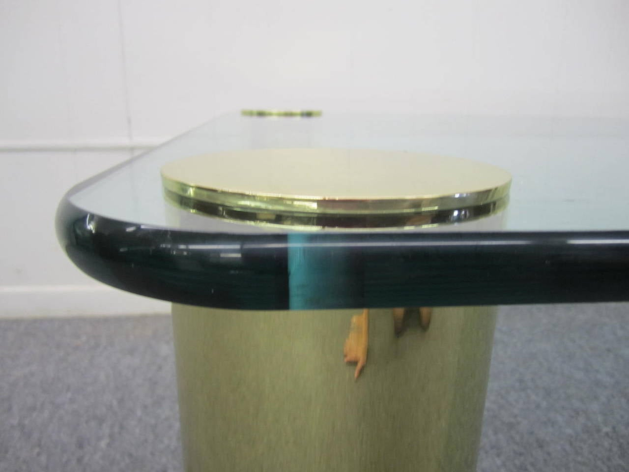 Fabulous Pace Collection Brass and Glass Coffee Table, Mid-Century Modern In Excellent Condition For Sale In Medford, NJ