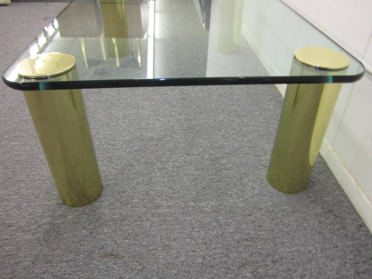 Fabulous Pace Collection Brass and Glass Coffee Table, Mid-Century Modern 7