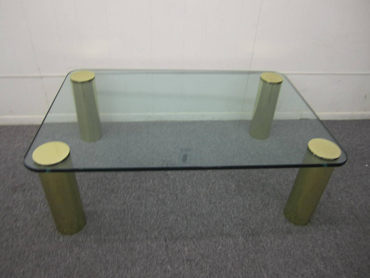 Fabulous Pace Collection Brass and Glass Coffee Table, Mid-Century Modern For Sale 5