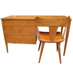 Paul Mccobb Solid Maple Desk with Chair Mid-Century Modern