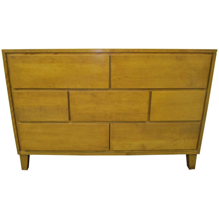 7 Drawer Solid Maple Conant Ball Dresser, Russel Wright, Mid-Century Modern 1