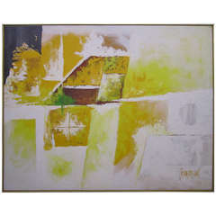 Large Scale signed Lee Reynolds Abstract Oil Painting Mid-century Modern