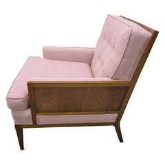 Sophisticated Erwin Lambeth Walnut Lounge Chair, Mid-Century Modern