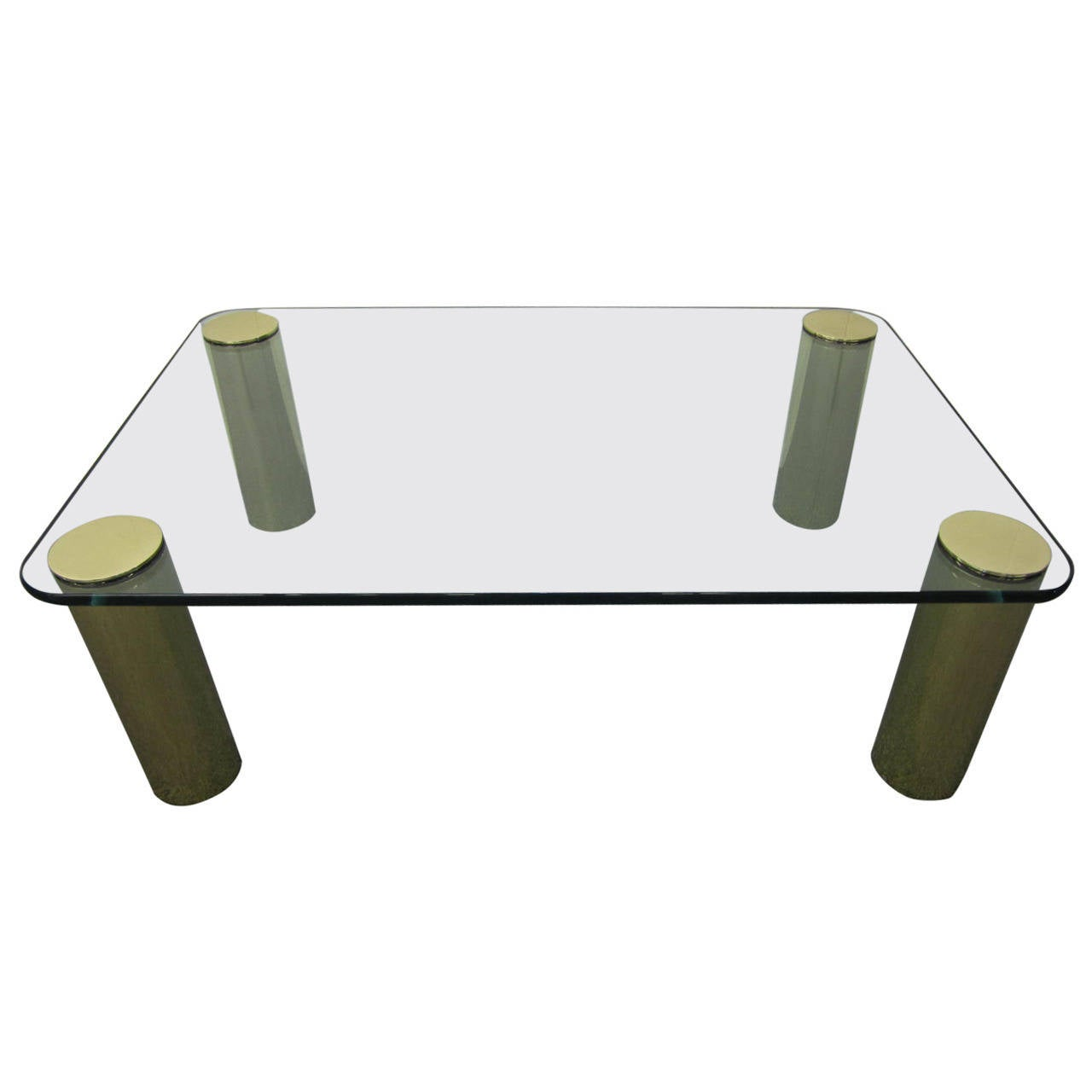 Fabulous Pace Collection Brass and Glass Coffee Table, Mid-Century Modern 1