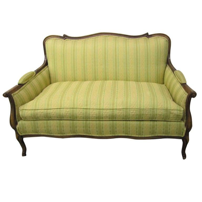 Lovely French Regency Down Filled Sette Loveseat Sofa At 1stdibs