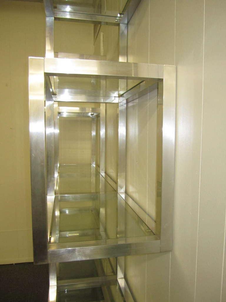 Fabulous Chunky Aluminum Large Scale Etagere, Mid-Century Modern For Sale 1