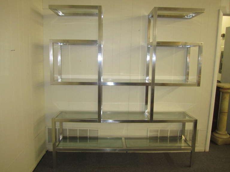 Fabulous Chunky Aluminum Large Scale Etagere, Mid-Century Modern For Sale 5