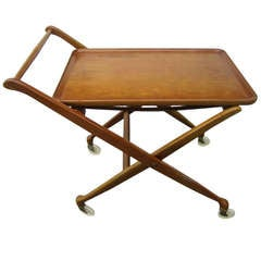 Wonderful Drexel Rolling Bar Cart Mid-Century Modern, circa 1957