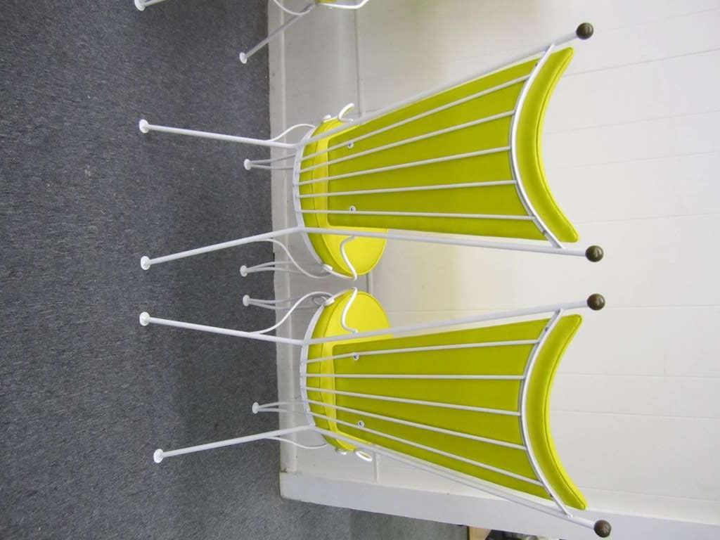 Gorgeous Set Of 4 Salterini Style Patio Chairs Mid Century