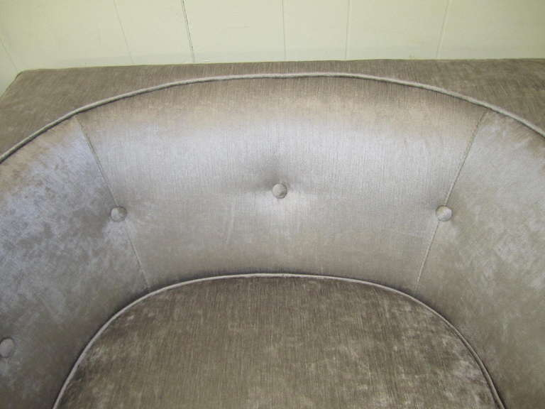 Late 20th Century Pristine Pair of Probber Style Cube Club Chairs Chrome Base, Mid-Century Modern For Sale