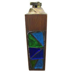 Mid-century Modern Georges Briard Stained Mosaic Lighter