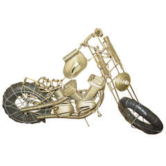 Awesome C. Jere Mid-Century Modern Style, Wire Mototcycle Metal Sculpture