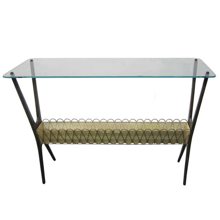 Outstanding Cesare Lacca Console Plant Stand Mid-century Modern