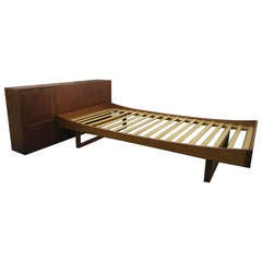 Danish Modern Bernh Pederson and Son Teak Single bed with Headboard