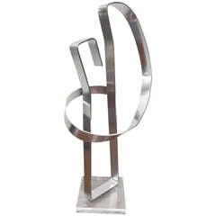 Fantastic Signed Dan Murphy Kinetic Aluminum Sculpture Mid-century