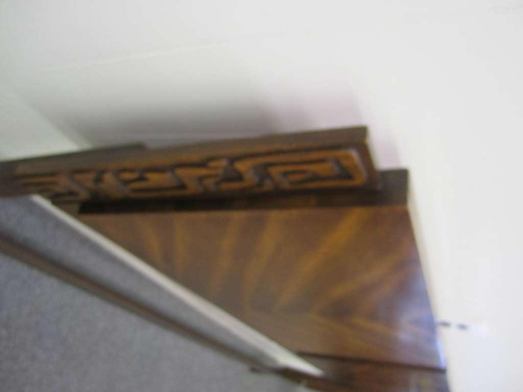Mid-20th Century Paul Evans Style Walnut Sculptural Headboard Mid-century Modern For Sale