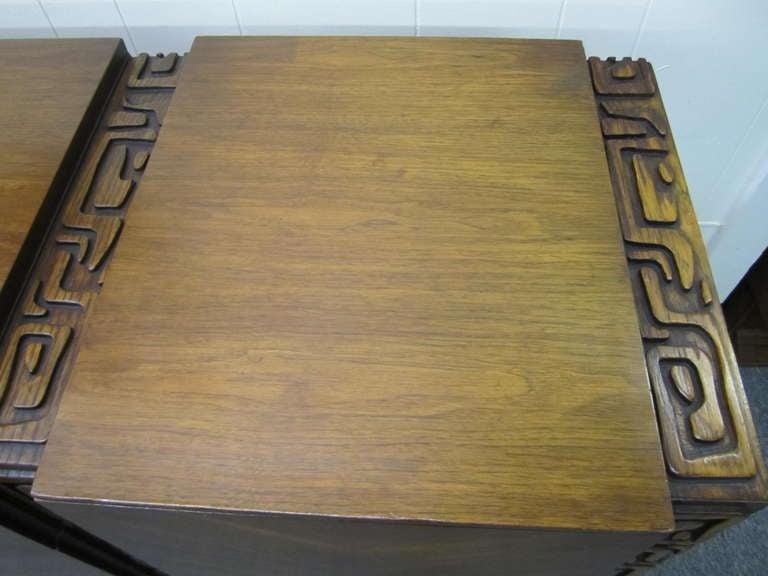 Paul Evans style Walnut Sculptural Credenza Mid-century Modern 3