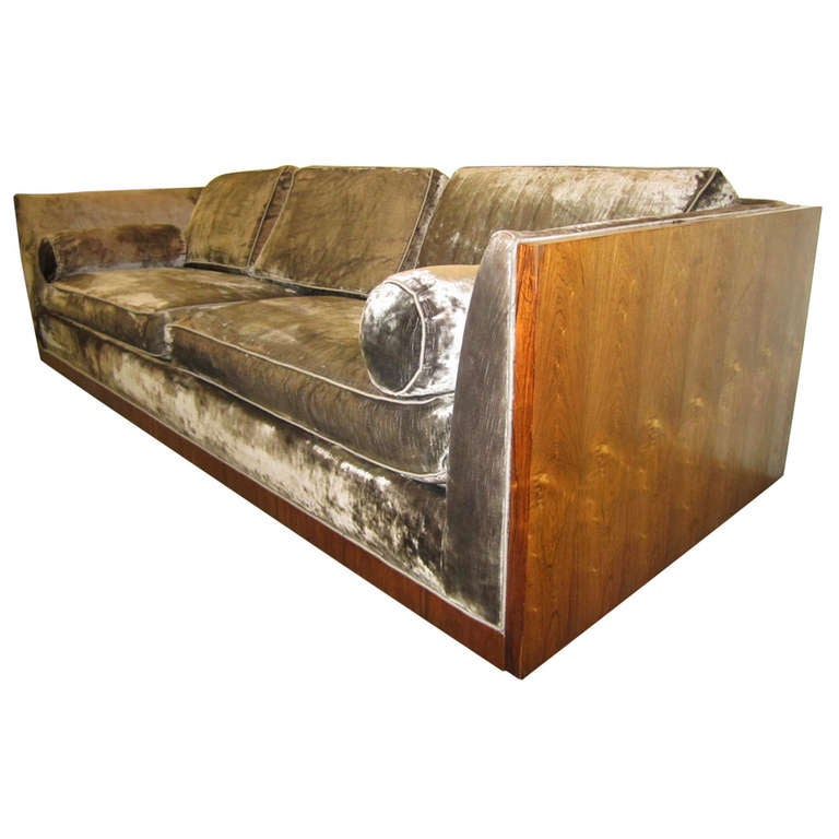 Amazing Milo Baughman, Rosewood Floating Case Sofa, Mid Century Modern