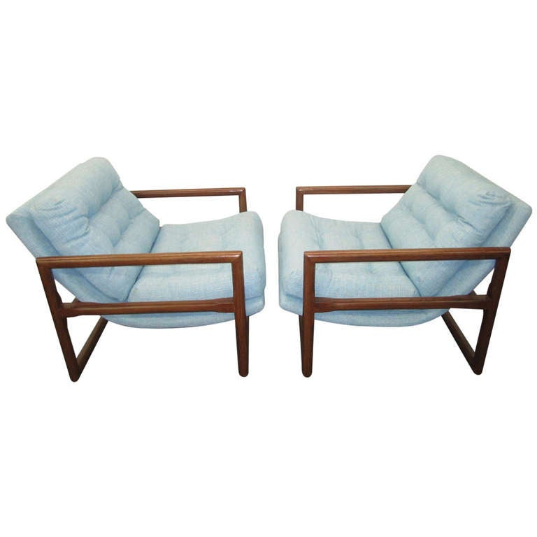 Fabulous Pair Of Milo Baughman Totally Restored Scoop Chairs, Mid Century  Modern 1