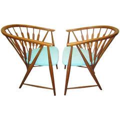Handsome Pair of Kipp Stewart Declaration Lounge Chairs, Mid-Century Modern