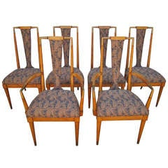"Rare Set of 6 Bert England ""Forward Trend Collection"" Dining Chairs"