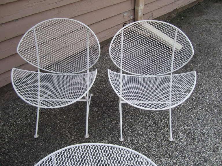 Maurizio Tempestini Mid Century Modern Patio Bench Chair Salterini 2