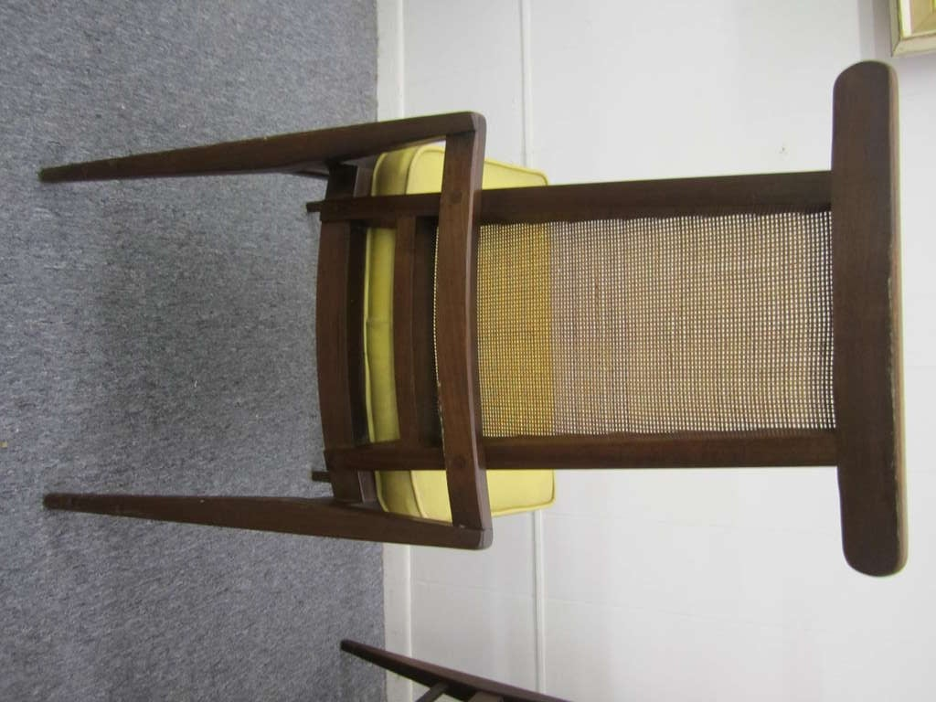 Set Of 6 American Mid Century Modern Caned Back Dining