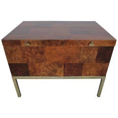 Handsome Burled Walnut Patchworks Paul Evans Style Lane Side End Table