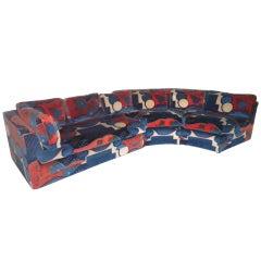 Milo Baughman Directional Sectional Sofa With Jack Larsen Fabric