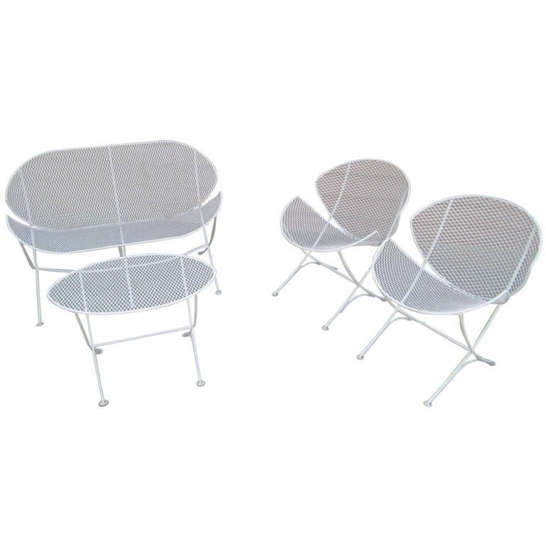 Maurizio Tempestini Mid century modern Patio Bench Chair Salterini at 1stdibs