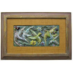Charming Harris Strong Style 3-D Tile bird Painting