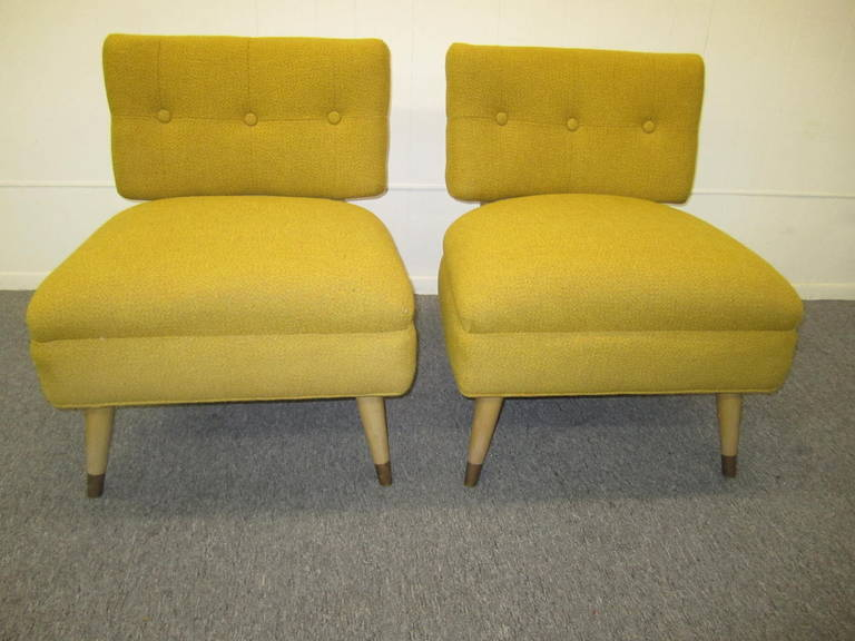 lovely pair of billy haines style slipper chairs 1950s midcentury modern 3 - Slipper Chairs
