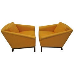 Fantastic Probber Style Angular Arm Lounge Chairs, Mid-Century Modern