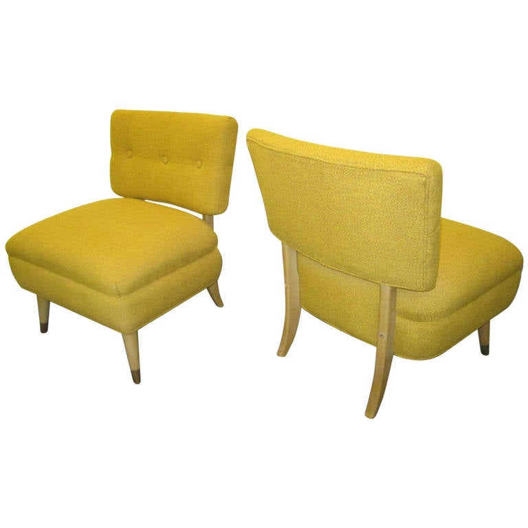 lovely pair of billy haines style slipper chairs 1950s mid century modern 1 - Mid Century Modern Furniture Of The 1950s