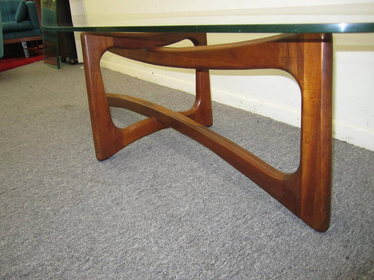 Pearsall Sculptural Walnut Dog Bone Coffee Table Midcentury Image 3