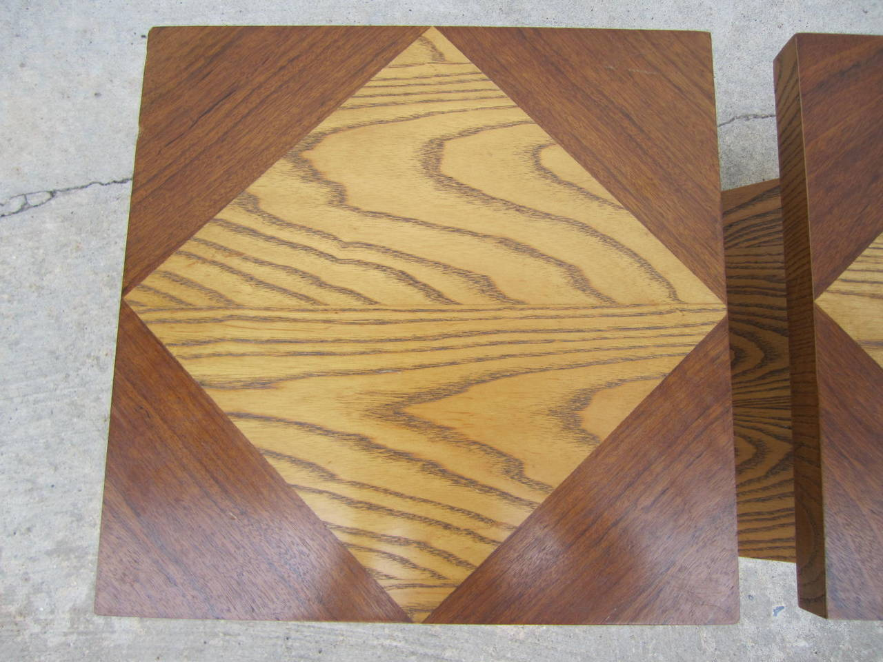 American Excellent Pair of Lane Z End Side Tables Mid-Century Modern For Sale
