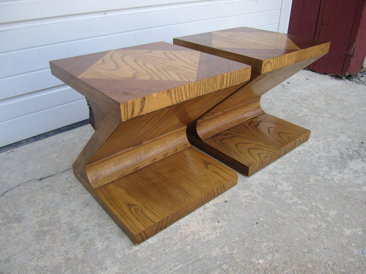 Late 20th Century Excellent Pair of Lane Z End Side Tables Mid-Century Modern For Sale