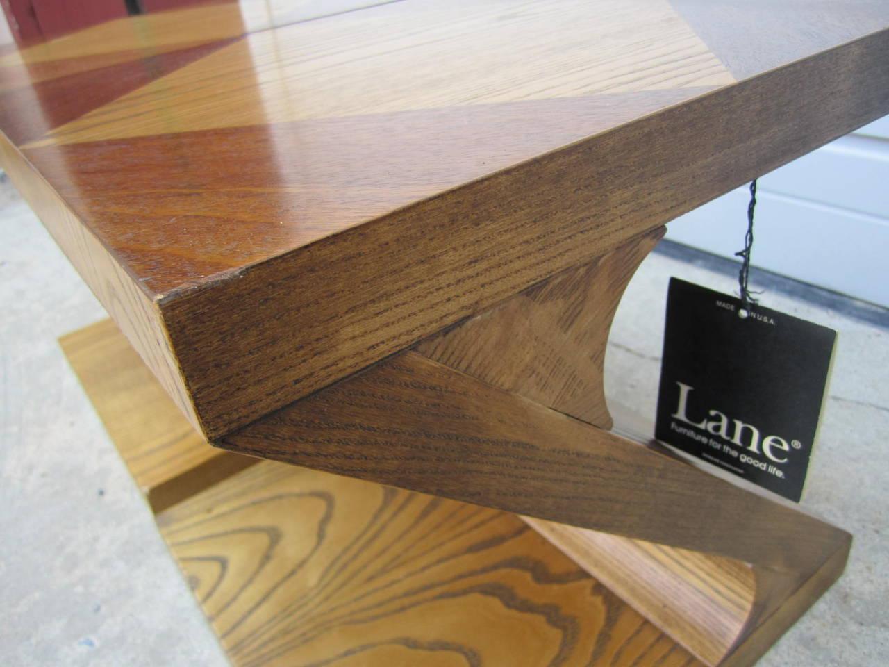 Oak Excellent Pair of Lane Z End Side Tables Mid-Century Modern For Sale