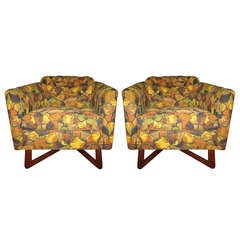 Pair of Adrian Pearsall Sculptural Walnut Lounge Chairs Mid-Century Modern