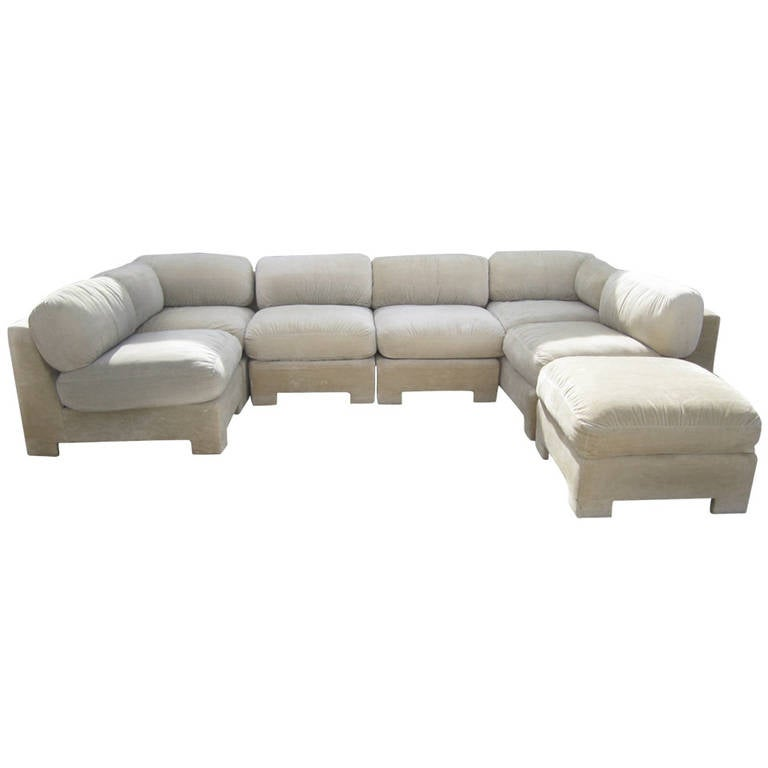 style directional sectional sofa mid century modern at 1stdibs