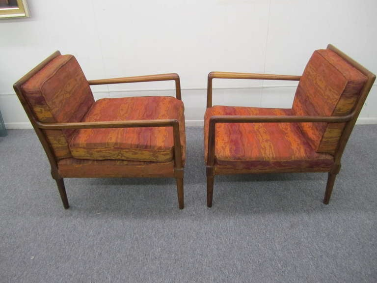 Gorgeous Pair Of Robsjohn Gibbings Style Lounge Chairs. These Fine Chairs  Have Wonderful Walnut Frames. Mid Century Modern Fantastic Pair ...