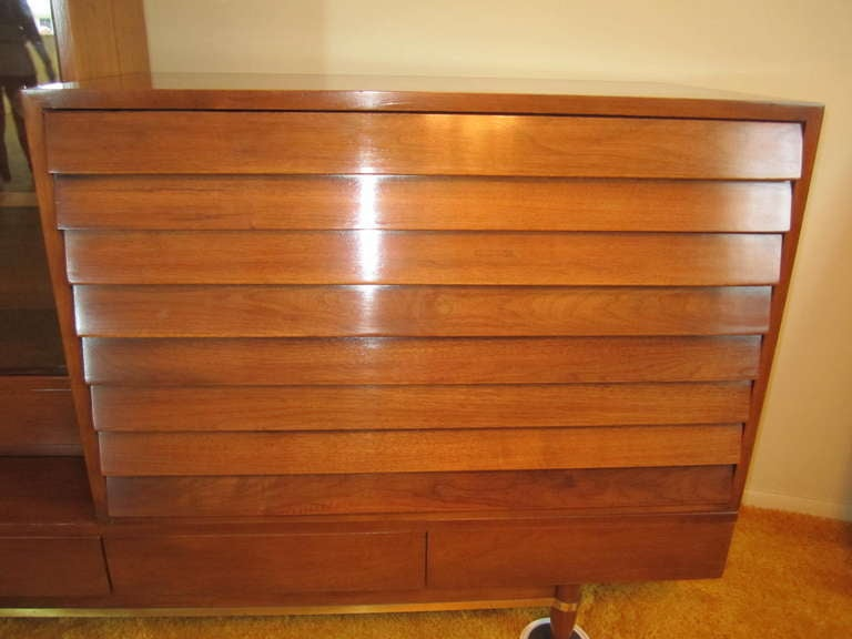Mid-Century Modern Lovely American of Martinsville Library Wall Unit Mid century Modern For Sale