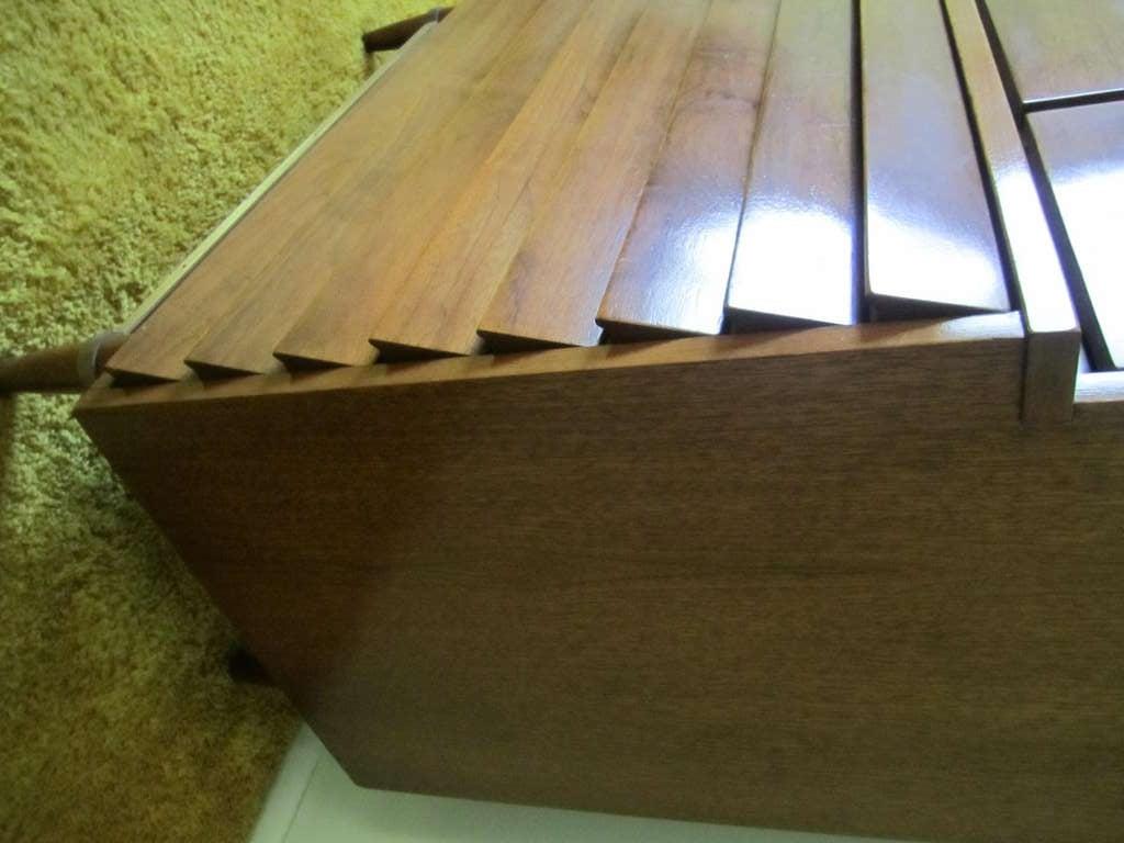 American Martinsville High Boy Walnut Dresser Chest Mid-century Modern For Sale 4