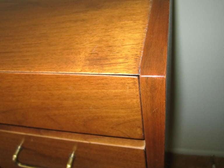 American Martinsville High Boy Walnut Dresser Chest Mid-century Modern For Sale 5