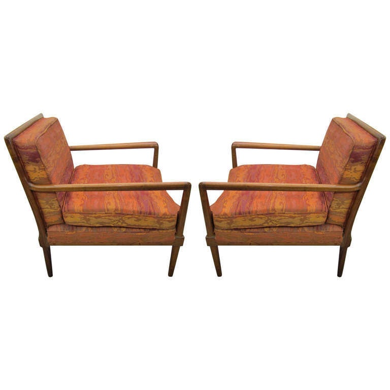 Exceptional Fantastic Pair Robsjohn Gibbings Style Lounge Chairs Mid Century Modern For  Sale