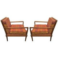 Fantastic Pair Robsjohn Gibbings Style Lounge Chairs Mid-century Modern